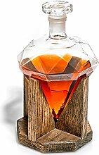 Diamond Whiskey Dekanter 1000 ml Glas