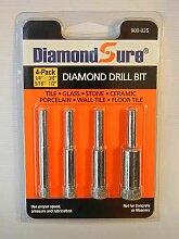 DiamondSure Diamantbohrkrone, 4 Stück, 1/4 Zoll,
