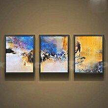 DIAMWAN 3 handgemalte abstrakte Gemälde für