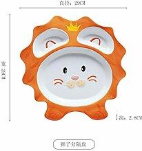DIBAHAO Kreative Kinder Gericht Cartoon Tier Linie