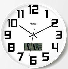 DIBC Europäische stille Uhr runde Quarzuhr