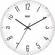 DIBC Randlose Stille Uhr Runde Uhr Gebogenes Glas