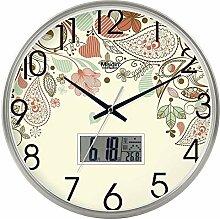 DIBC Wanduhr Einfache stumme Uhr des