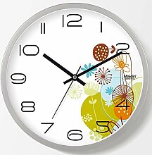 DIBC Wohnzimmer Blume Garten Stil Uhr stumm Mode