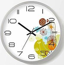 DIBC Wohnzimmer Blume rustikalen Stil Uhr Stumm