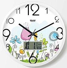 DIBC Wohnzimmer Mode wanduhr löwenzahn Uhr stumm