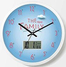 DIBC Wohnzimmer rustikalen Stil Uhr stumm Quarzuhr