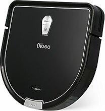 Dibea D960 Roboter Staubsauger mit Mop und Wassertank, leistungsstarke Saug-und Fernbedienung, super Ruhig Design für Teppich und harte Böden