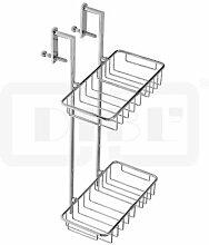DIBL accessoires Messing-Duschkorb mit zwei Ablagen zum Einhängen