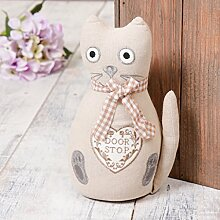 Dibor - French Style Accessories for the Home Creme Katze Türstopper 26 x W15 cm