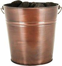 Dibor groß antik Kupfer Metall Container Eimer