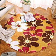 Dicke 1,5 cm Runde Teppich / Computer Stuhl Swivel Decke / Runde Hocker Hängematte Bett Bett Bett rutschfeste Wasser waschen Teppich / Wohnzimmer Sofa Couchtisch Teppich ( größe : Diameter 100cm , stil : C )