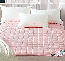 Dicke 2cm Matratzenschutz Matte Anti-Rutsch Matratze Schutzplatte Polyester Faser Gefüllt (Rosa) ( größe : 180*200cm )