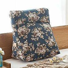 Dicke Baumwolle canvas Kissen auf Stereo grosse Taille Hals große Kissen Bett auf., 46 x 50 x 18 cm, Sakura