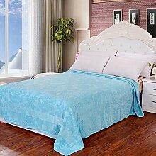 Dicke Baumwolle Decken/ Jacquard Handtuch/ einzelne doppelte Decke/ Decken Bettwäsche/ Schlaf Klimaanlage Decke-A 180x200cm(71x79inch)