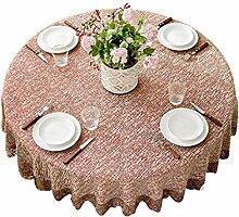 Dicke Einfarbige Tischdecke, Runde Tischdecke,