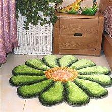 Dicke Matte 3D Sun Teppich Teppich Matratze Wohnzimmer Kissen Kissen Computer Stuhl Kissen ( Farbe : Grün )
