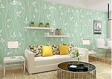 Dicke Mauer Papier selbstklebend Vlies Wand renovierung Aufkleber mit voller 3D Vision wall Poster wasserdicht Schlafzimmer Tapete, Grün