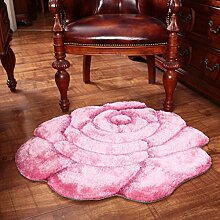 Dicke Mode Stereo-Teppiche/ Teppich aus Rosen/ Blume Teppich Schlafzimmer Bett-C 80x160cm(31x63inch)