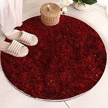 Dicke Runde Teppich Schlafzimmer Make-Up Hocker Pad Computer Stuhl Decke Kissen Körbe Wohnzimmer Teppich Staub Pad ( Farbe : D , größe : 80cm )