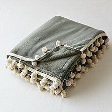 Dicke Warme Decke Wolldecke Blatt Einfache Farbe