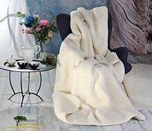 Dicke Wolldecke (Bettdecke) Luka 135x200cm aus