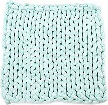 Dicke Wolldecke Chunky Knit Fußmatte Teppich