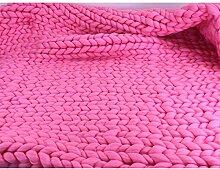 Dicke Wolldecke Handgemachte Gestrickte Decke Sofa