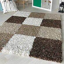 """Dicke x mynes zu Hause, kleine Größe, Einfarbig, weiche Shaggy-Teppich, moderner Teppich Teppich mit, Polypropylen, Square Brown, 80x150 cm (2'6"""" x5'0)"""