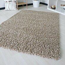 """Dicke x mynes zu Hause, kleine Größe, Einfarbig, weiche Shaggy-Teppich, moderner Teppich Teppich mit, Polypropylen, beige, 160x230 cm (5'3"""" x7'7)"""