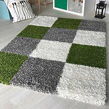 """Dicke x mynes zu Hause, kleine Größe, Einfarbig, weiche Shaggy-Teppich, moderner Teppich Teppich mit, Polypropylen, Grün (viereckig), 160x230 cm (5'3"""" x7'7)"""