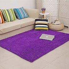 dicken Chenille Teppich/Wohnzimmer Couchtisch Schlafzimmer Bettvorleger/Rechteckigen Familienzimmer mit Teppich-C 140x200cm(55x79inch)