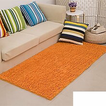 dicken Chenille Teppich/Wohnzimmer Couchtisch Schlafzimmer Bettvorleger/Rechteckigen Familienzimmer mit Teppich-D 80x160cm(31x63inch)