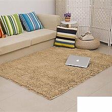 dicken Chenille Teppich/Wohnzimmer Couchtisch Schlafzimmer Bettvorleger/Rechteckigen Familienzimmer mit Teppich-O 100x160cm(39x63inch)