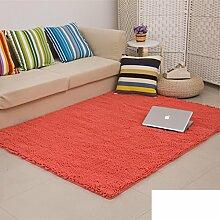 dicken Chenille Teppich/Wohnzimmer Couchtisch Schlafzimmer Bettvorleger/Rechteckigen Familienzimmer mit Teppich-N 140x200cm(55x79inch)