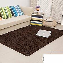 dicken Chenille Teppich/Wohnzimmer Couchtisch Schlafzimmer Bettvorleger/Rechteckigen Familienzimmer mit Teppich-P 160x200cm(63x79inch)