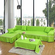 Dicker Baumwolle canvas Volltonfarbe Sofabezug/ Sofa-Handtuch/ Sofa-C 200x350cm(79x138inch)