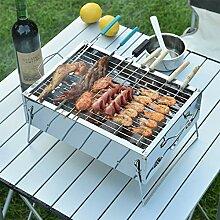 Dicker Edelstahlgrill, für Outdoor Kochen Camping