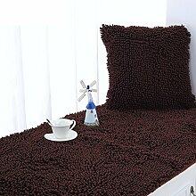 Dicker fenster mat/chenille window mat/pastorale europäischer balkon mat/sofa-kissen/anti-rutschen herbst und winter float fenster mat-E 70x180cm(28x71inch)