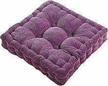 Dicker Mais Samt Kissen Büro Sessel Kissen Sofa Matte 12 Farben 3 Größen (50x50cm, Lila)