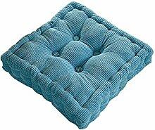 Dicker Mais Samt Kissen Büro Sessel Kissen Sofa Matte 12 Farben 3 Größen (45x45cm, Blau)