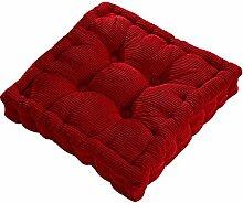Dicker Mais Samt Kissen Büro Sessel Kissen Sofa Matte 12 Farben 3 Größen (40x40cm, Rot)