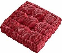 Dicker Mais Samt Kissen Büro Sessel Kissen Sofa Matte 12 Farben 3 Größen (40x40cm, Rose Rot)