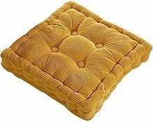 Dicker Mais Samt Kissen Büro Sessel Kissen Sofa Matte 12 Farben 3 Größen (45x45cm, Gelb)