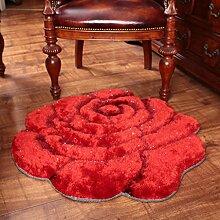 Dicker Mode 3D Stereo Rosen Teppich Schlafzimmer Bettdecke runden Teppich Computer Stuhl Teppich , 3 , 80*160cm