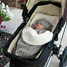 Dicker Quilt, Baby Kapuze Wickel Strick Wrap Warm