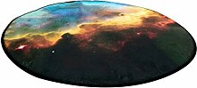 Dicker rutschfester runder Teppich im Wohnzimmer Schlafzimmer für Couchtisch Nachttisch Stuhl Bereich Teppich Matte Kreative Mode Modern Romantische Stil Stern Muster ( größe : Diameter 150cm )