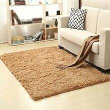 Dicker rutschfester Teppich, Wohnzimmer, Couchtisch, Schlafzimmer, Bett, Yogamatten , #2 , 80*200cm