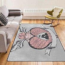 Dicker Teppich mit weichem Bereich Leicht zu