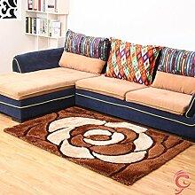 Dicker Teppich Wohnzimmer Couchtisch Verschlüsselung stereoskopische 3D-Bettvorleger Schlafzimmerteppich Teppich modernen minimalistische Mode